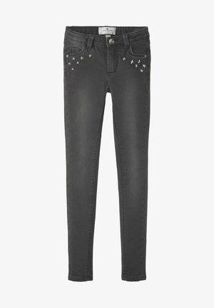 MIT NIETEN - Slim fit jeans - dark grey denim