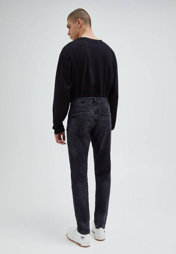 PULL&BEAR Jeansy Slim Fit - black denim/czarny denim Odzież Męska XUZV