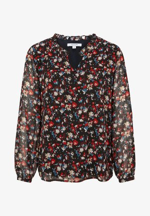 MIT ALLOVER-MUSTER - Blouse - black camouflage