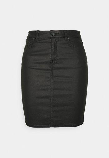 VMFAITH SHORT COATED SKIRT TALL - Mini skirt - black