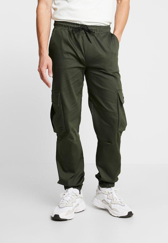 BASIS - Pantaloni cargo - khaki