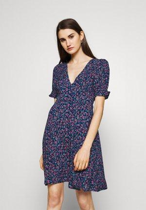 Denní šaty - blue red