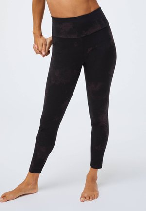 TIE-DYE PRINT - Leggings - black