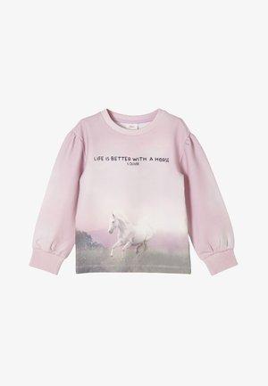 Sweatshirt - pink aop
