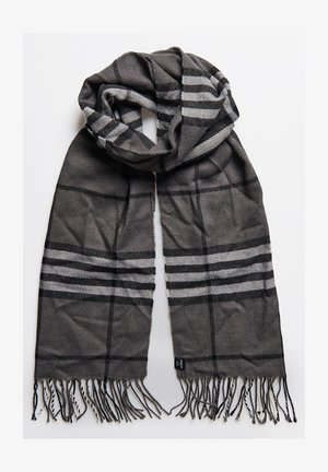 Scarf - charcoal check