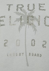 True Religion - BOXY CREW NECK PALM TREE - Mikina - frost - 6