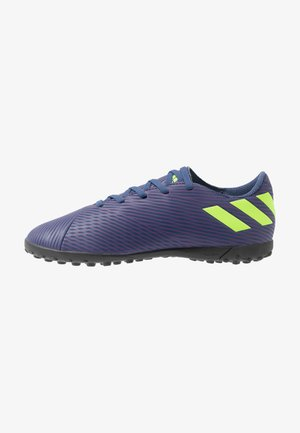 NEMEZIZ MESSI 19.4 TF - Botas de fútbol multitacos - tech indigo/signal green/glow purple