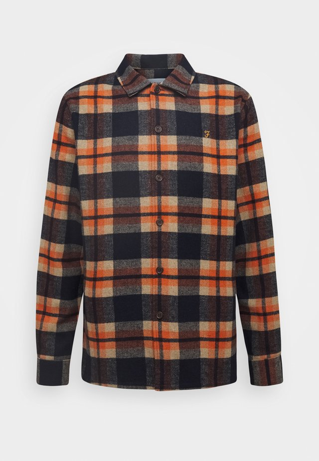 DRUMMOND CHECK - Skjorte - farah orange
