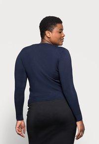 Marks & Spencer London - CREW CARDI PLAIN - Strikjakke /Cardigans - dark blue - 2