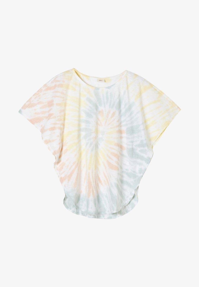 s.Oliver - Print T-shirt - white batik