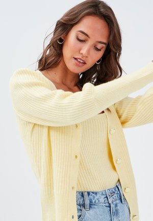 Cardigan - jaune pastel