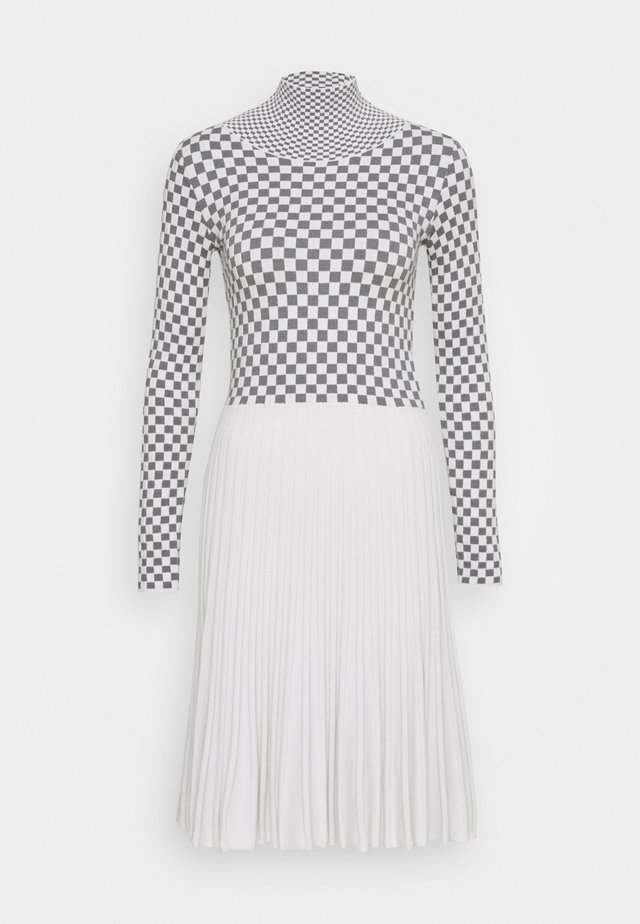 DRESS - Jumper dress - silvery grey