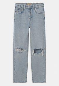 Gina Tricot Mini - Straight leg jeans - light blue destroy - 0