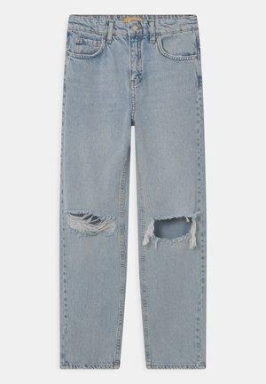 Jeans straight leg - light blue destroy