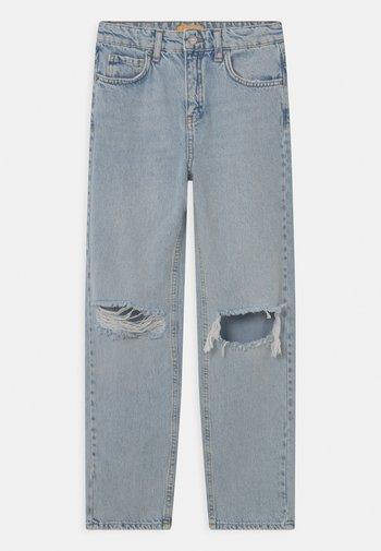 Straight leg jeans - light blue destroy