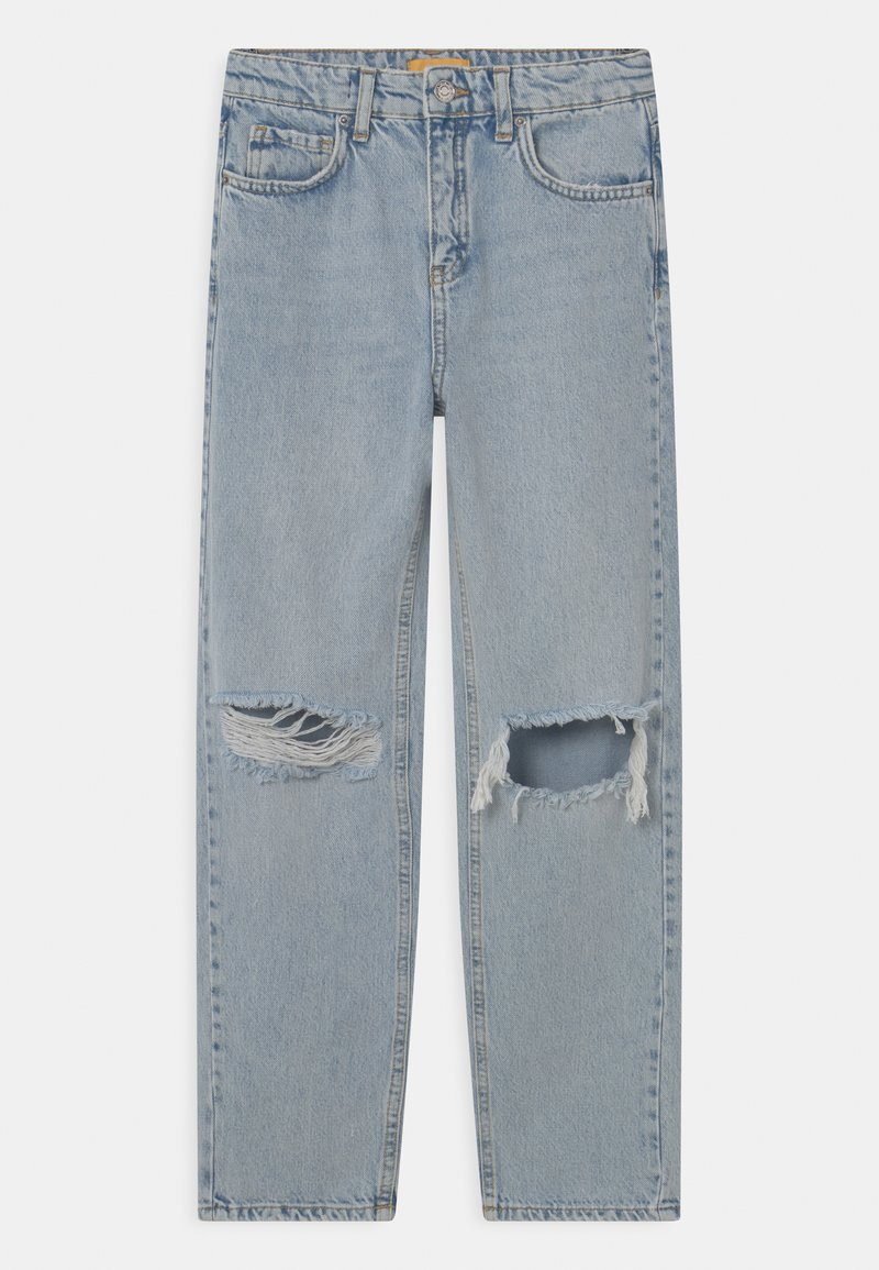 Gina Tricot Mini - Straight leg jeans - light blue destroy