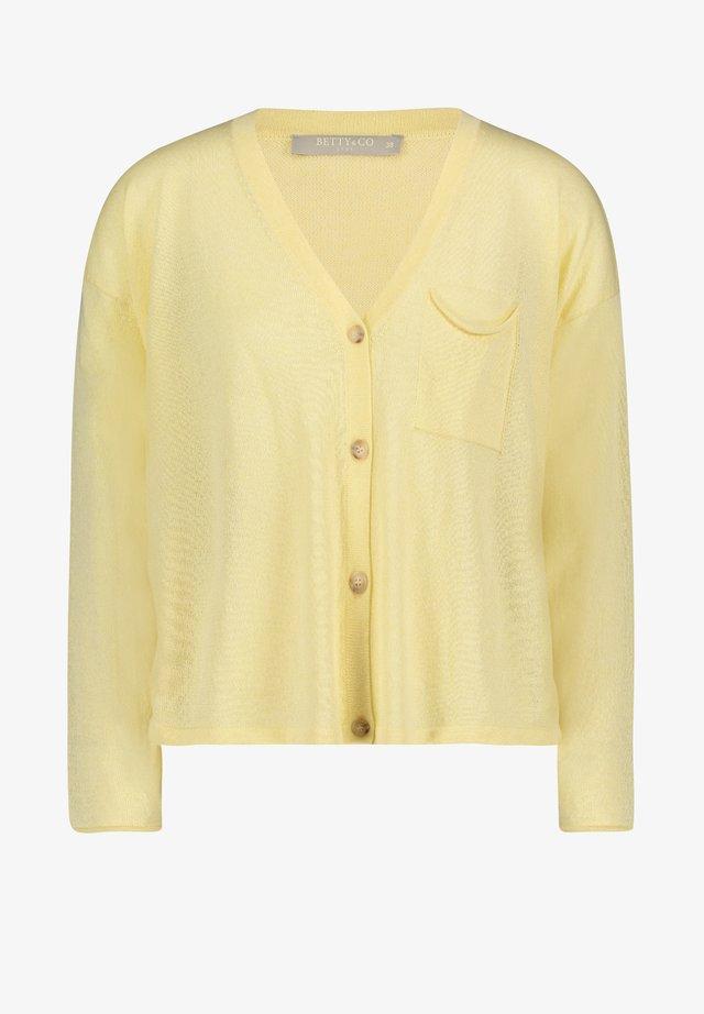 MIT KNOPFLEISTE - Vest - gelb