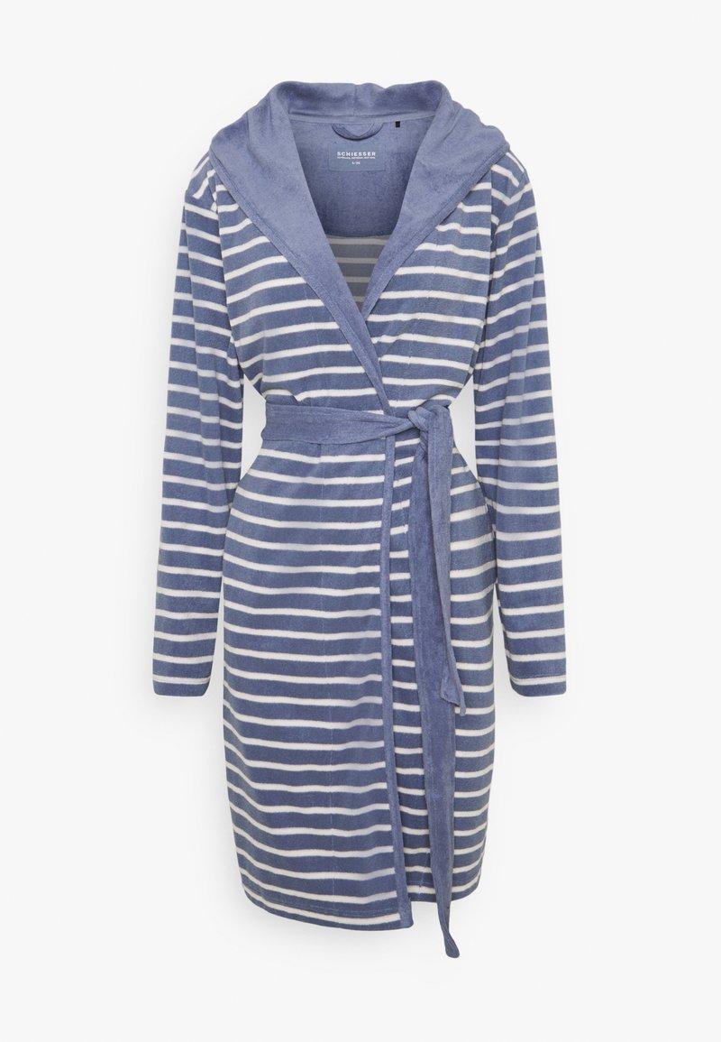 Schiesser - Dressing gown - jeansblau