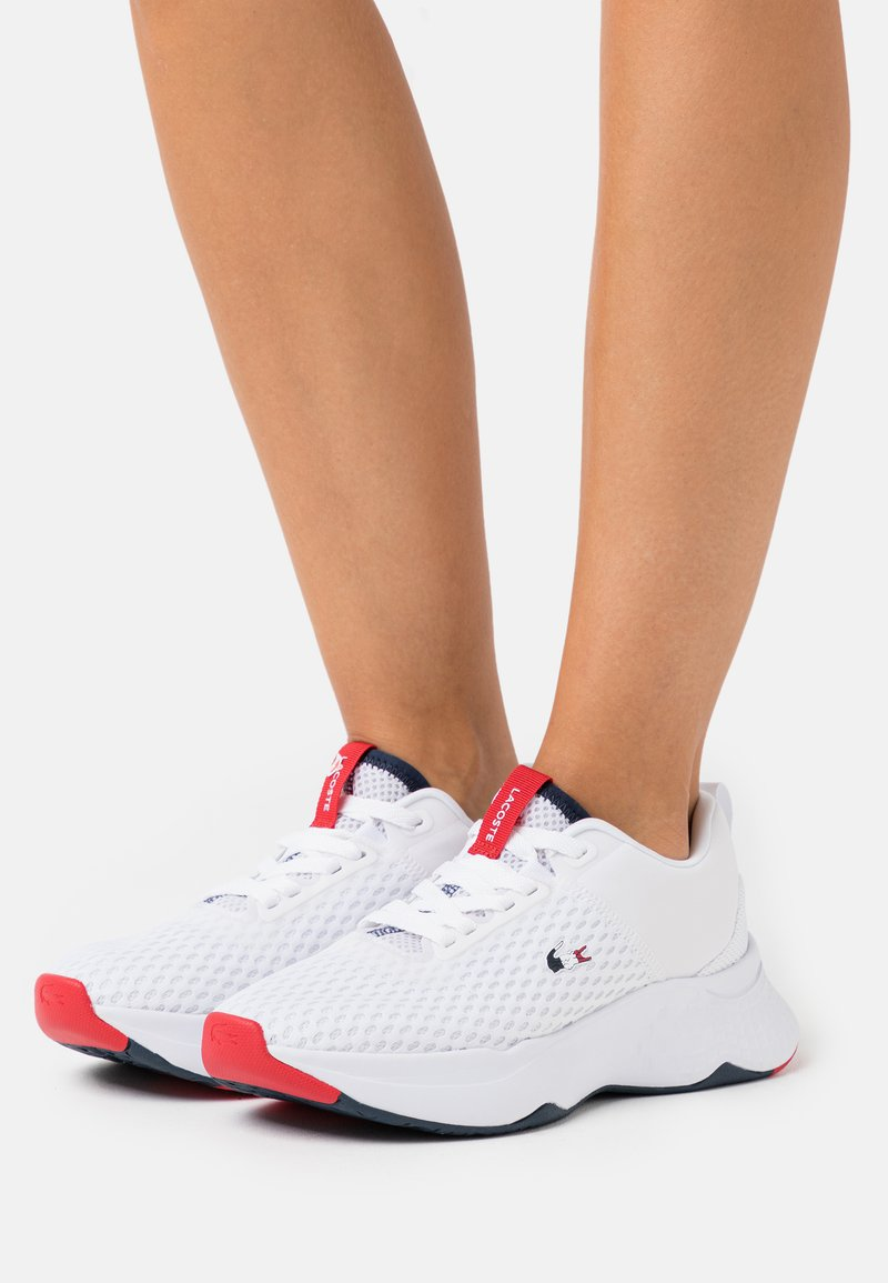 Lacoste - COURT DRIVE  - Baskets basses - white/navy/red