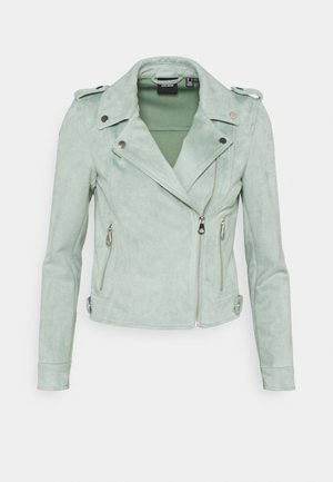 VMBOOSTBIKER - Faux leather jacket - jadeite