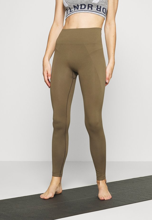 HIGH SEAMLESS LEGGING - Legging - mud