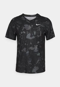 Nike Performance - DRY VICTORY  - Triko spotiskem - black/white - 0