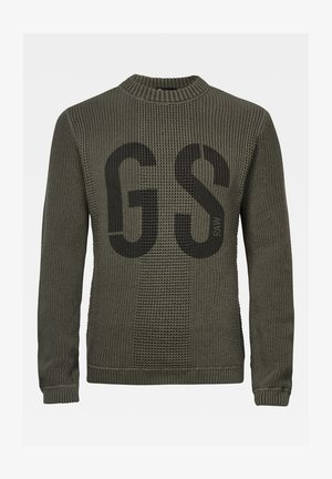 GS STRUCTURE KNITTED - Trui - graphite asfalt