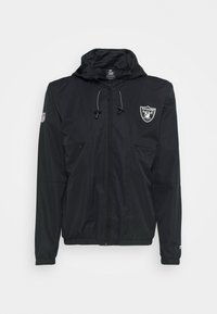 NFL OAKLAND RAIDERS ICONIC BACK TO BASICS MIDWEIGHT JACKET - Klubové oblečení - black