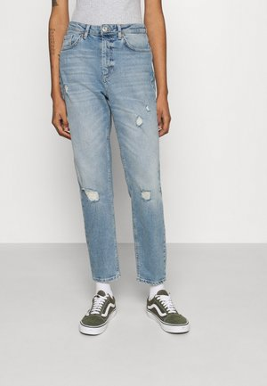 ONLVENEDA LIFE MOM DESTROY - Relaxed fit jeans - medium blue denim