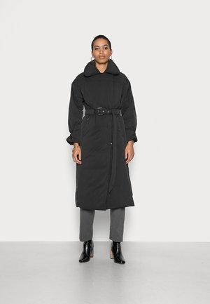 ALICCEE LONG BELTED PUFFER JACKET - Winter coat - black