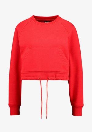 LADIES SHORT RAGLAN CREW - Sweatshirt - firered