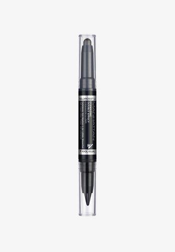 EYEMAZING DOUBLE EFFECT EYESHADOW & LINER - Eye shadow - 001 In the black