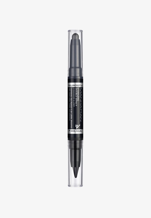 EYEMAZING DOUBLE EFFECT EYESHADOW & LINER - Ögonskugga - 001 In the black