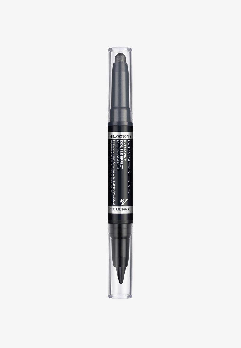 Manhattan Cosmetics - EYEMAZING DOUBLE EFFECT EYESHADOW & LINER - Eye shadow - 001 In the black