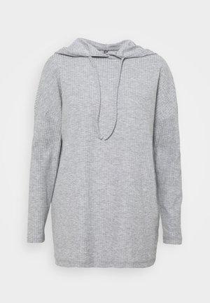 PCRIBBI - Hoodie - light grey melange