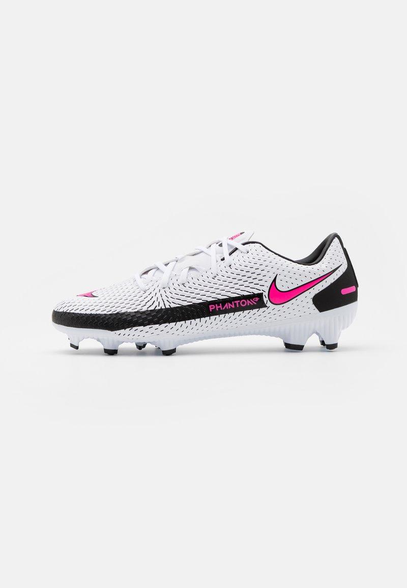 Nike Performance - PHANTOM GT ACADEMY FG/MG - Moulded stud football boots - white/pink blast/black