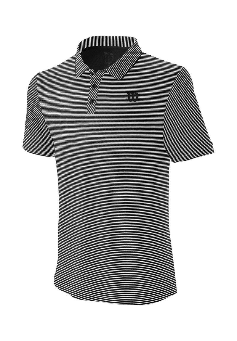 Wilson - TRAINING POLO - Sports shirt - schwarz / weiss (910)