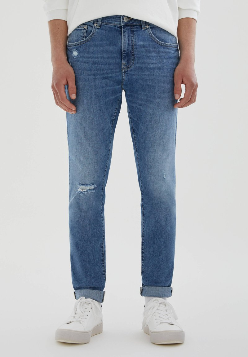 PULL&BEAR - Jeans Skinny Fit - stone blue denim