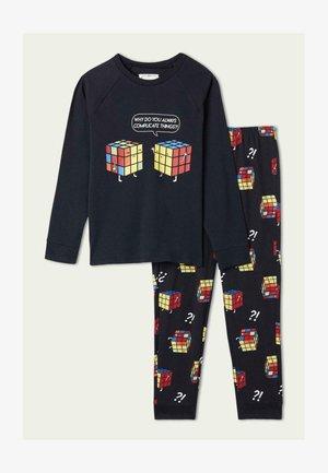 SET - Pyjama set - deep blue st.cubi
