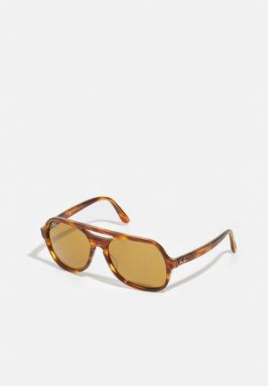 Sunglasses - striped havana