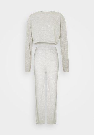 CROPPED BATWING AND WIDE LEG SET - Tracksuit - grey
