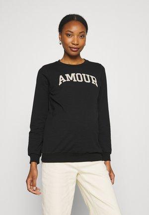 AMOUR - Sweatshirt - black