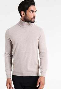 Benetton - BASIC ROLL NECK - Jumper - beige - 0
