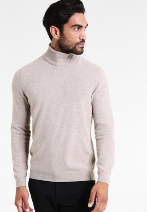 BASIC ROLL NECK - Strickpullover - beige