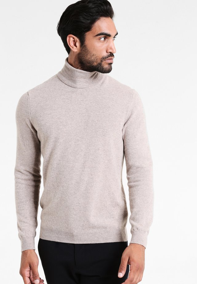 BASIC ROLL NECK - Sweter - beige