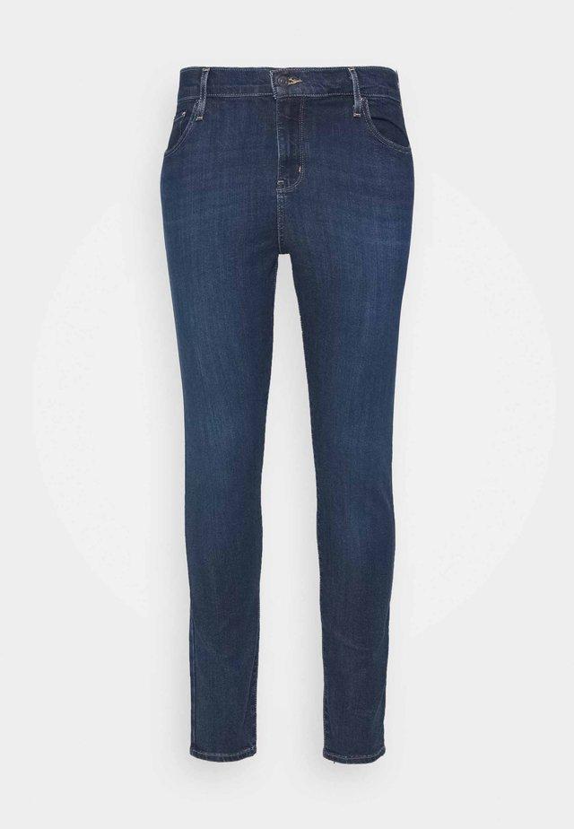 HI RISE - Jeans Skinny Fit - dark-blue denim