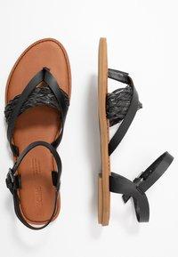 TOMS - LEXIE - Sandály s odděleným palcem - black - 3
