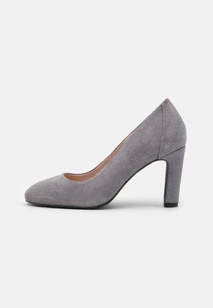 LEATHER - Zapatos altos - grey