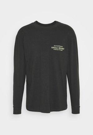 BOXY TEE LONG SLEEVE - T-shirt à manches longues - faded black