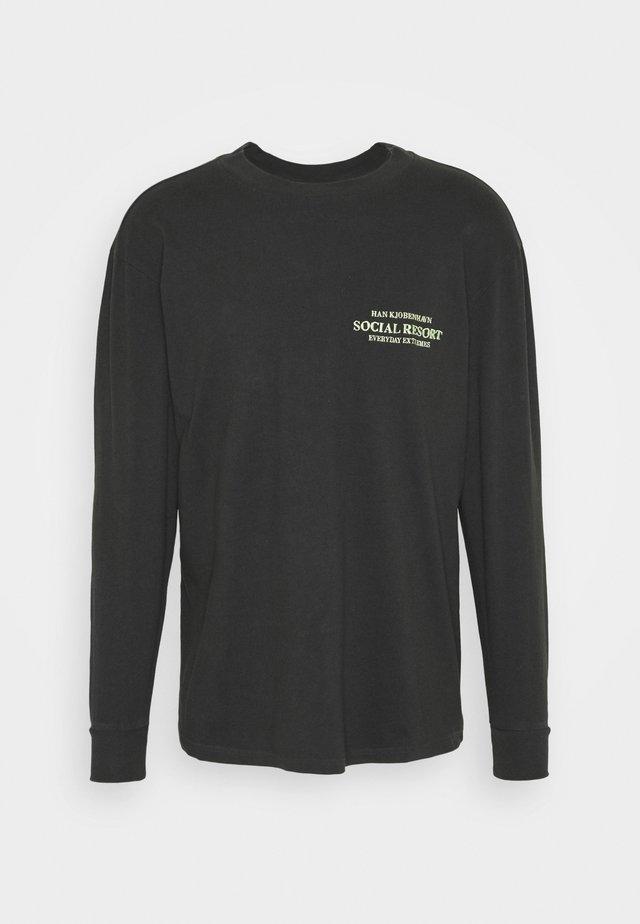 BOXY TEE LONG SLEEVE - Longsleeve - faded black